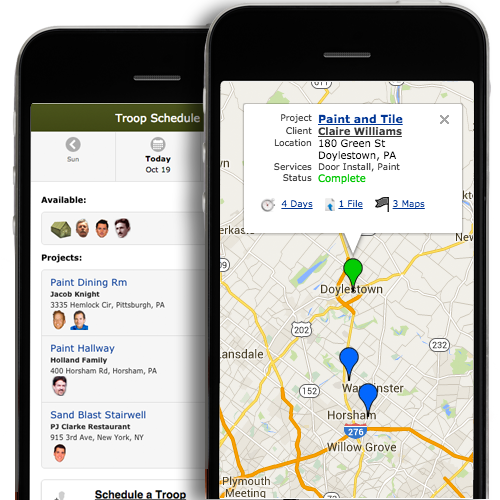 Painting Company Software Smartphone Scheduling